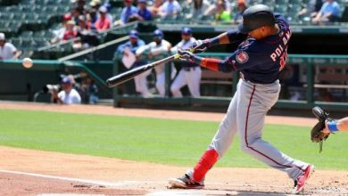 Photo of Triple de Polanco sella barrida de Twins en Texas