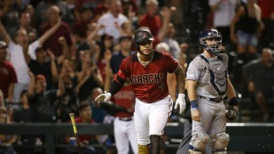 Photo of Marte pega grand slam y D-backs barren a Padres